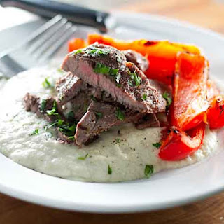 Grilled Steak with Eggplant Puree (Sultan's Delight)