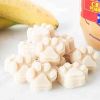 Yogurt Peanut Butter Banana Dog Treats.