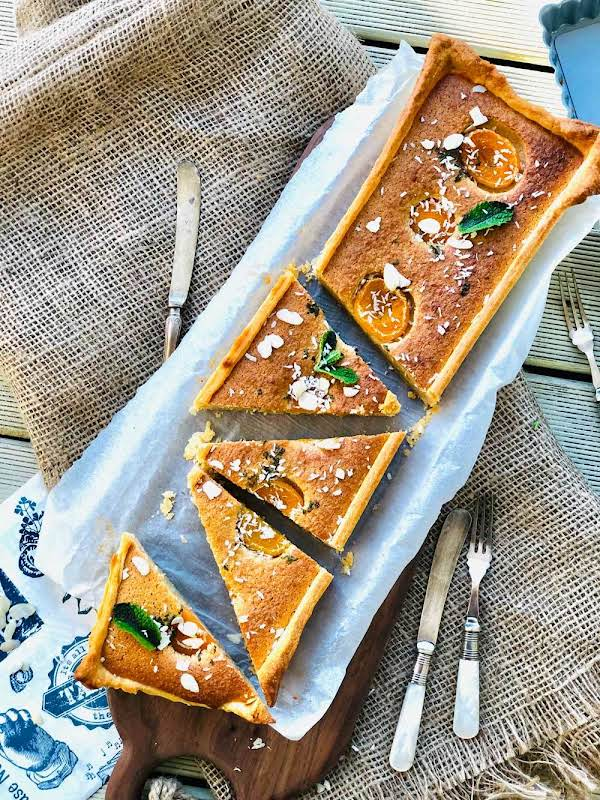 Almond Flour Cake With Apricots, Coconut And Mint Recipe