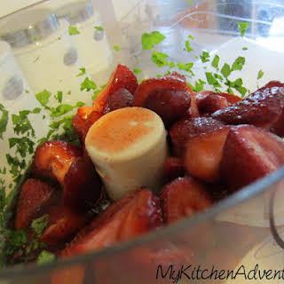 Fresh Strawberry Basil Sorbet.