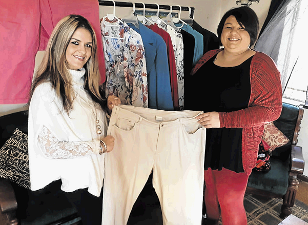 Leonie Claasen and Cindy Leander open their new second-hand clothing store in Cambridge on Saturday