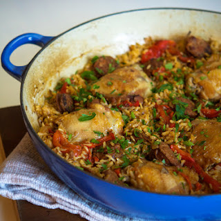 Chicken and Chorizo with Brown Rice