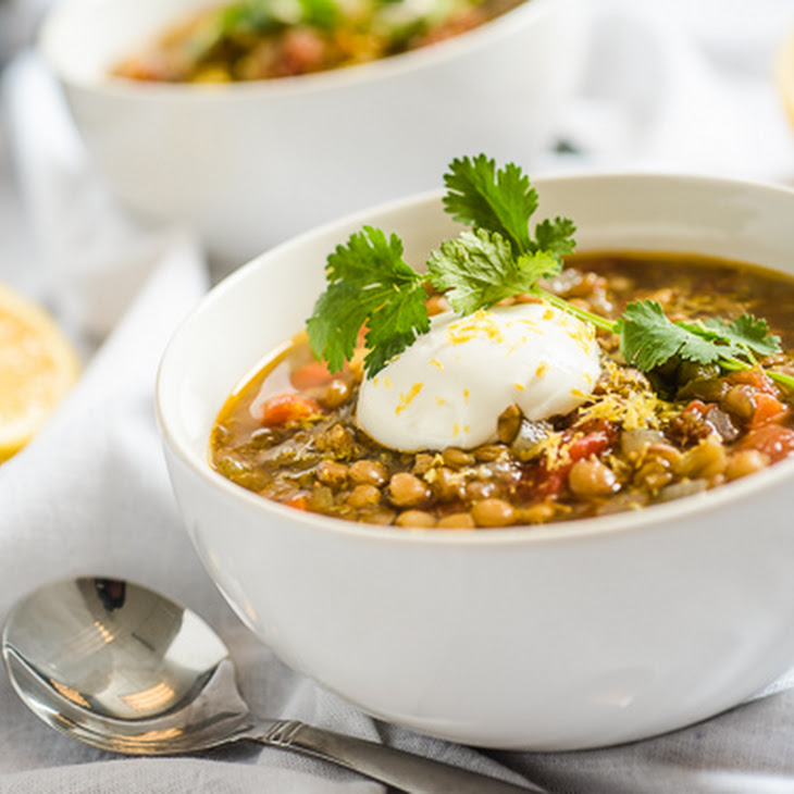 Slow Cooker Vegetarian Lentil Soup Recipe