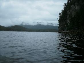 Photo: Rounding Entrance Island into Hobart Bay.