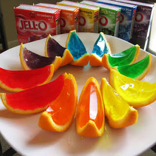 JELLO ORANGE SLICES.
