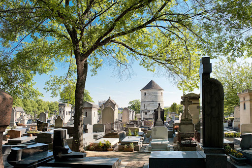 Montparnasse-Cemetery-Paris.jpg - Montparnasse Cemetery in Paris contains the graves of many notables, including Simone de Beauvoir, Jean-Paul Sartre and Samuel Beckett.