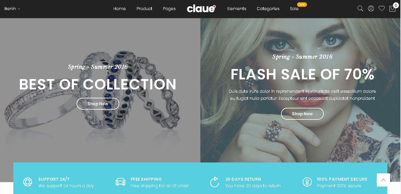 Magento jewelry theme Claue