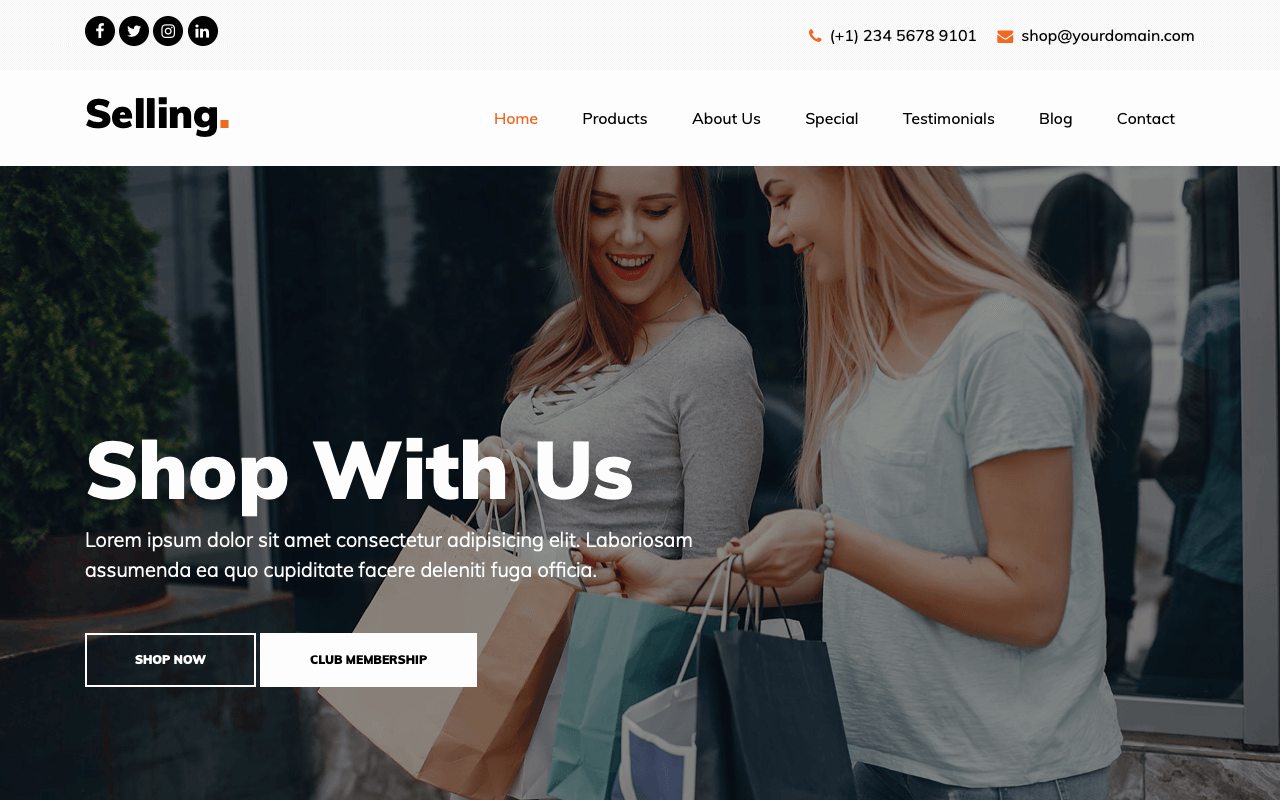Selling Landing Page Template