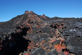 Photo: ... and collapsed lava channels.