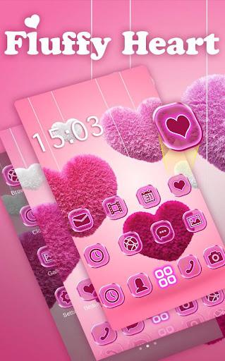 Fluffy diamond Hearts Theme: Pink Comics Launcher 3.9.10 screenshots 3