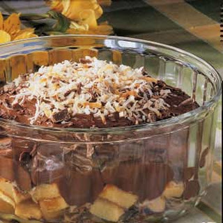 Coconut Chocolate Trifle.