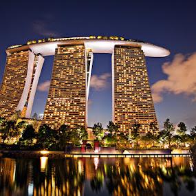 Marina Bay Sands, Singapore by Joseph Goh Meng Huat - City,  Street & Park  Vistas ( nature, marina bay sands, joseph goh meng huat, landscape, singapore )
