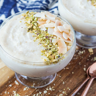 Keskul-e-Fugara (Turkish Milk and Almond Pudding).