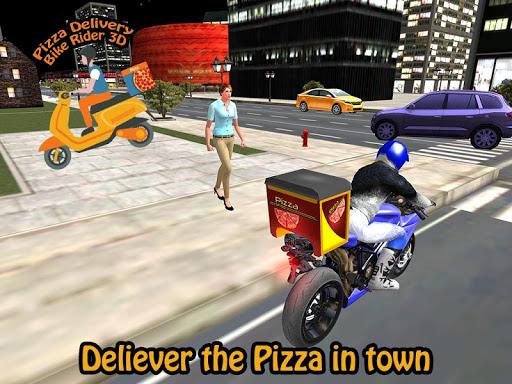 Pizza Delivery Bike Rider 3D