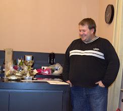 Photo: Schon etwas wacher -  der Obmann bei der Preisverteilung!