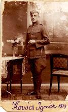 Photo: Szalai Mária nagyapja Kovács Ignác: 100 év távlatából szeretném nagyapám emlékét felidézni egy-két sorban, ahogyan nagyanyámtól hallottam. Az értelmetlen és kegyetlen első világháború kitörésekor sorban jöttek a katonai behívók a fiatal emberek részére. Így az én nagyapámnak, Kovács Ignácnak is mennie kellett. Az édesapámat, aki még nem volt egy éves, itt kellett hagynia, ahogyan a feleségét és a faluját is. Akkor még nem lehetett tudni mikor látja őket viszont, vagy a legrosszabbat, hogy soha többé. Sajnos az én nagyapám soha nem jött haza. Hiába várta a nagyanyám és a fia, az én édesapám.