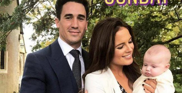 Binky Felstead's daughter is christened
