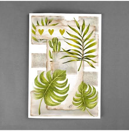 DELUXE kort - Växter & hjärtan