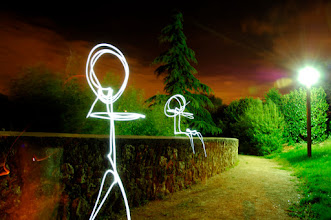 Photo: Rendez Vous - Light painting by Christopher Hibbert, french photographer and light painter. Further information: http://www.christopher-hibbert.com