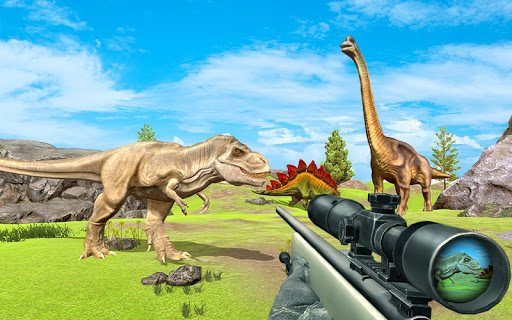 Code Triche Real dinosaur hunting game new 2020 APK MOD screenshots 2