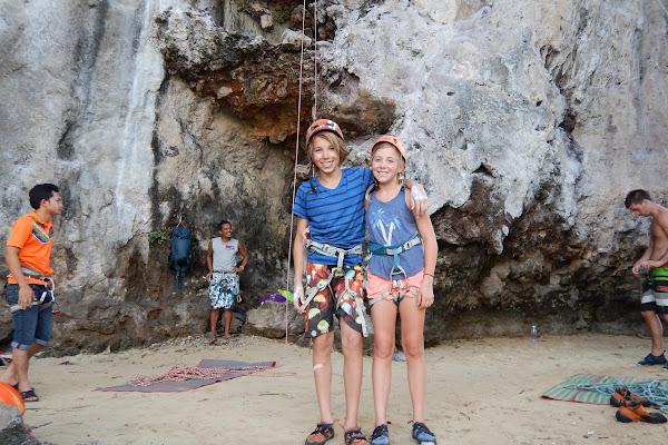 Climbing fun with kids