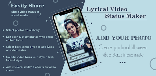 Get Ready To Make Lyrical Video Status With Your Own Images.