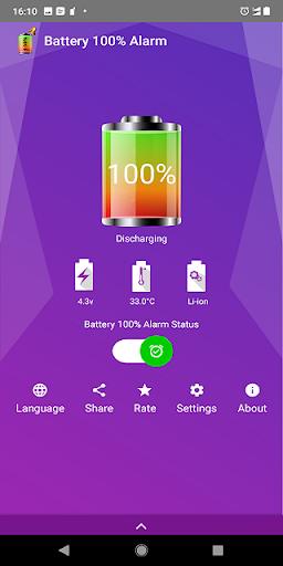 Battery 100% Alarm 3.6.3 screenshots 1