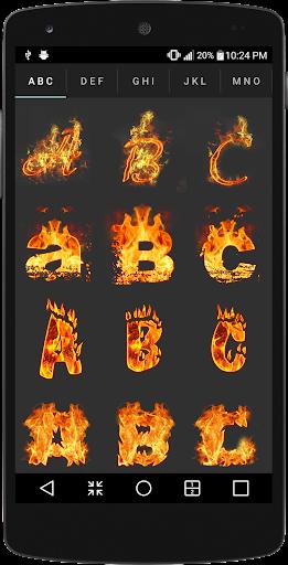 Name Text Fire 1.0.2 screenshots 4