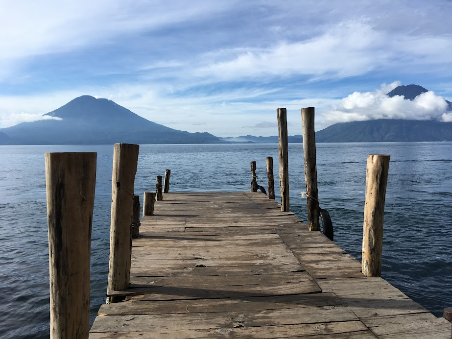 Lake Atitlan, taken from a pier in Santa Cruz Laguna