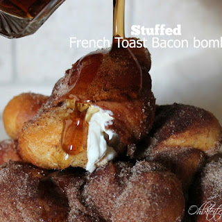 ~Stuffed French Toast Bacon Bombs!