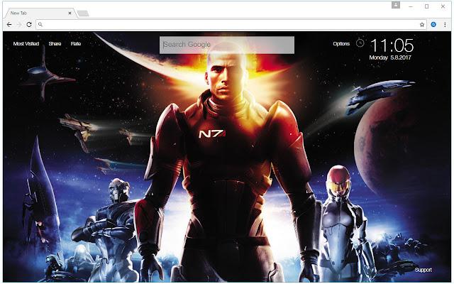 Mass Effect Wallpaper HD New Tab Themes