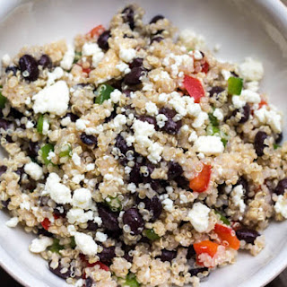 Healthy Black Bean and Feta Quinoa Salad