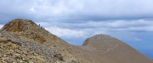 Photo: Hikers descending hump between Naya Nuki and Sacajawea.