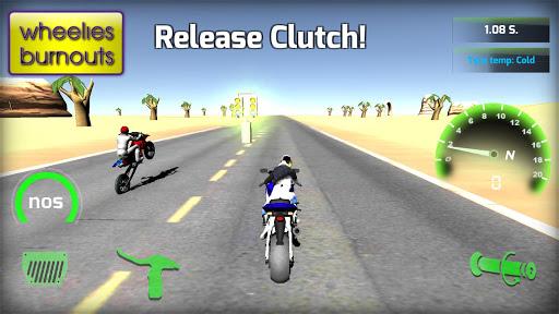 Motorbike real 3D drag racing Wheelie Challenge 3D  screenshots 9
