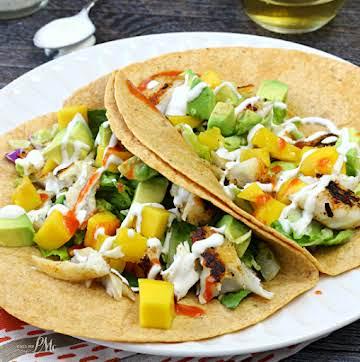 Fish Tacos with Mango Avocado Relish