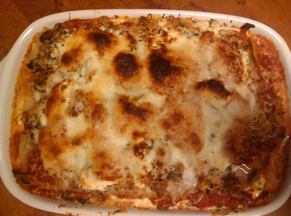Spinach & Turkey Sausage Lasagna Recipe