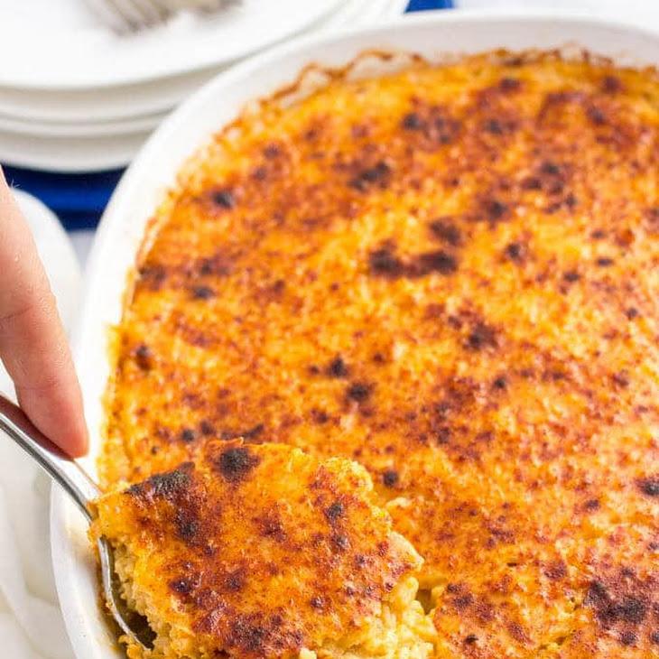 Overnight Cheesy Grits Casserole Recipe