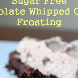 Sugar Free Chocolate Whipped Cream Frosting