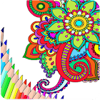 Adult coloring pages icon