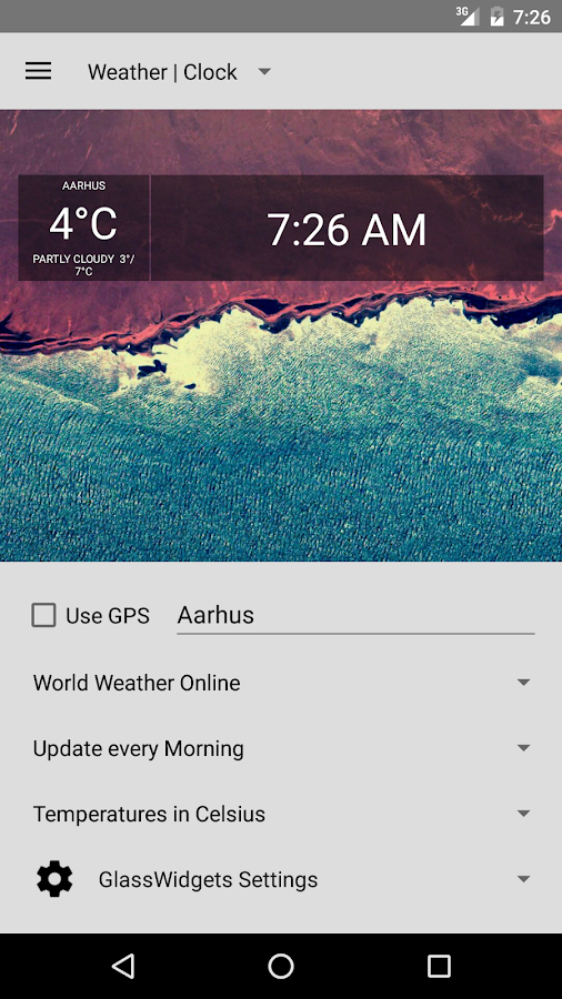 Glass Widgets- screenshot