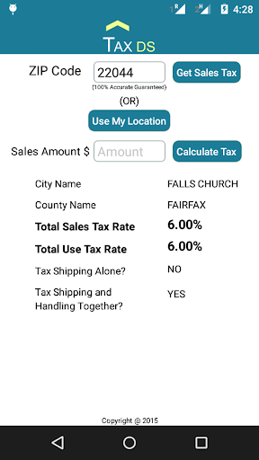 ZIP to SalesTax