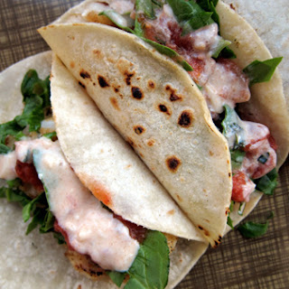 Easy Fish Tacos with Yogurt Crema