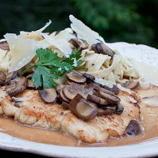 Turkey Cutlets with a Marsala and Mascarpone Sauce.