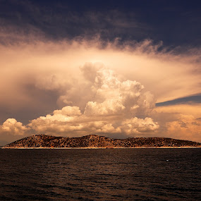 cloudy afternoon by Emil Zaman - Landscapes Cloud Formations ( greece, summer, sea, cloud, thasos )