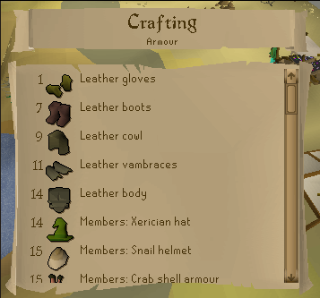 Free-To-Play Crafting Guide for OSRS (OldSchool RuneScape)