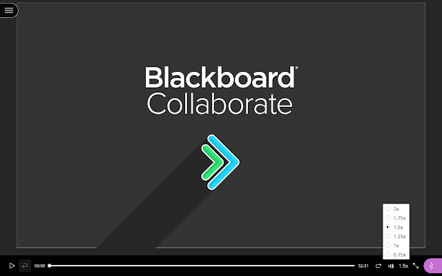 Playback Speed for Blackboard Collaborate