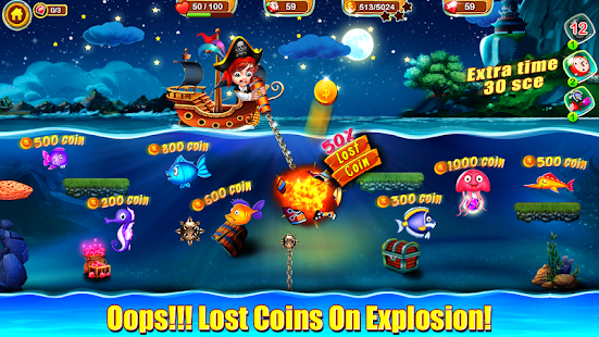 Pirate Fishing Dash - Fish Catching Master Game Screenshot