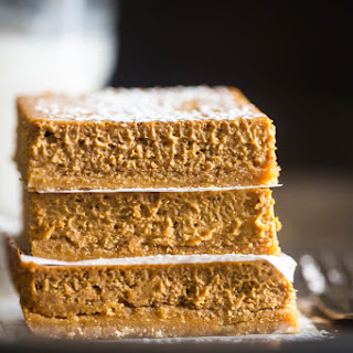 Skinny Gluten Free Pumpkin Cheesecake Bars.