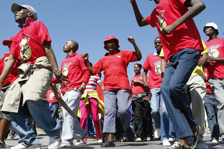 File photo of Nehawu members.