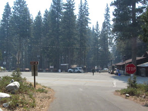 Photo: 12:45 - Arrive back at Crystal Lake visitor center. Forest Service personnel are relieved to see me to order me off the mountain.